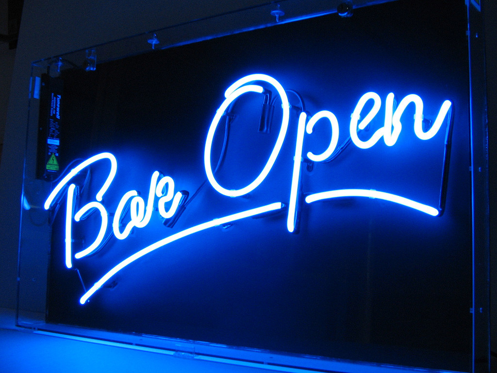 neon led signs bar sign signage business lauderdale fort light illuminated company electric open stand box foxy making vs mg