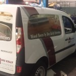 partial wrap with vinyl sign writing