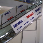 printed directional signs
