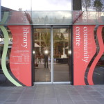 printed window graphics with cut out vinyl shapes