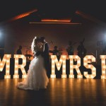 built up free standing wedding letters