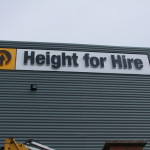 height for hire signage